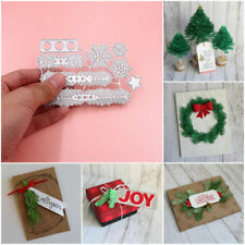 Metal Christmas Tree Wreath Cutting Dies Stencil Scrapbook DIY Manual Crafts *