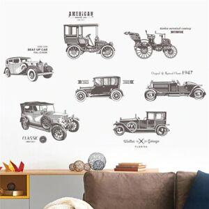 Cartoon Car Wall Decor Decals For Boys Bedroom Kids Room Car Poster Mural Wall