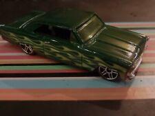 HotWheels '66 Chevy Nova - Green - approx 1:64 Die-cast Car