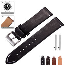 Genuine Leather Watch Band 18 20 22mm Wrist Strap For Fossil Quick Release Pins