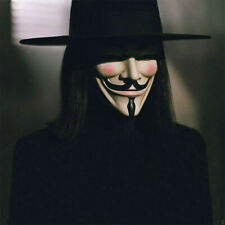 Black Top Hat & V for Vendetta Mask Cosplay Props Costume Anonymous Guy Fawkes