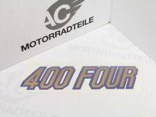 Honda CB 400 Four F2 Aufkleber Seitendeckel Emblem gold/blau Reproduktion