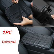 Black Car SUV Armrest Pad Cover Auto Center Console PU Leather Cushion Dustproof