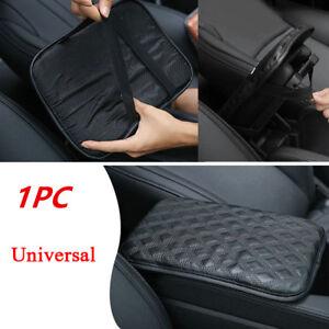 Black Car SUV Armrest Pad Cover Auto Center Console PU Leather Cushion Dustproof