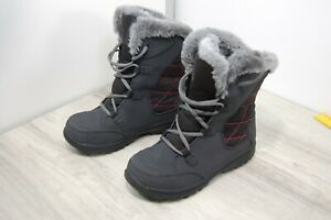 Columbia Youth Winter Boots Faux Fur Lined Grey / Pink Size 4 BY1331-011