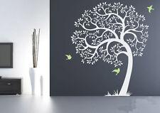 Hight 200cm Beautiful Birds Tree Grass Vinyl Wall Paper Decal Art Sticker T170