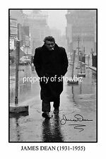 * JAMES DEAN * Signed poster print of a legend. Great memorabilia! Large size!
