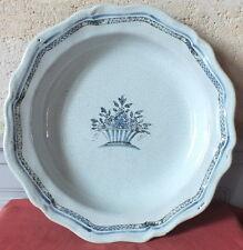 grande piatto rotondo antico culo nero 39 cm