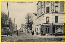 cpa 92 - LEVALLOIS PERRET (Hauts de Seine) RUE CAVÉ CAFÉ RESTAURANT GALTIER