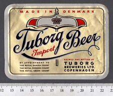 Danish Beer Label - Tuborg Brewery - Denmark - Tuborg Beer (Import)