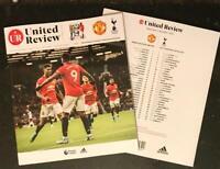 Manchester United v Tottenham Hotspur Spurs Programme Mourinho's return!!!!!