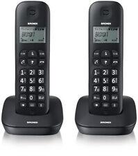 Telefono Cordless Brondi Gala Twin Nero 2 Comunicanti Duo Fisso Casa