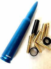 Dodge Ram Blue Antenna 50 Cal Bullet 5.5 Inch Short FITS ALL Screw On Style