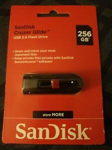 NEW SanDisk Cruzer Glide USB 2.0 Flash Drive 256GB New
