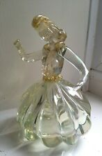 More details for murano glass lady. vintage barovier & toso, gold fleck figurine