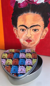 Frida Kahlo Keepsake Heart Shaped Tin