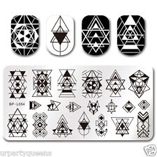 BORN PRETTY Nail Art Stamp Plate Manicure Image Template Geometry Design BP-L054