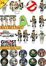 48 GHOSTBUSTERS Cup Cake Fairy Edible Wafer Rice Toppers STAND UP