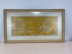 "Vtg ""Shore Grasses"" American 20th Century Woodblock LE Print 15/25 Bob Swinehart"