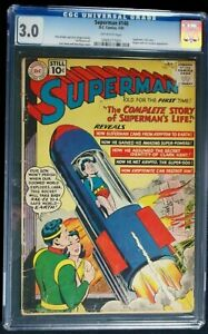 Superman #146 CGC 3.0, Superman's life story retold July 1961