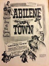 Abilene Town, Randolph Scott, Rhonda Fleming, Full Page Vintage Promotional Ad