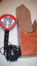 VTG spotlight hooks into cigarette lighter has faux leather cardboard case some