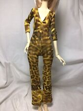 Bjd -Msd 1/4 Yellow/Brown Leopard Print Bodysuit w/ Bell Bottoms ~Never Used!