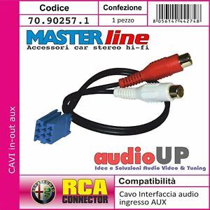 ADATTATORE INTERFACCIA AUDIO CAVO INGRESSO AUX PER ALFA ROMEO 159 2007 IN POI