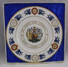 Limited Edition Coalport Queen Elizabeth II Silver Jubilee Commemorative Plate