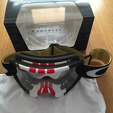 Oakley O Frame Pinned Red Yellow Motocross Goggle Free UK Post KTM CRF YZF