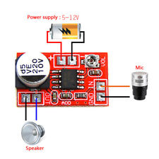 DC 5V-12V micro electret amplifier MIC condenser mini microphone amplifier YM56