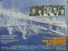 Michael Caine BEYOND THE POSEIDON ADVENTURE(1990)Original UK quad cinema poster