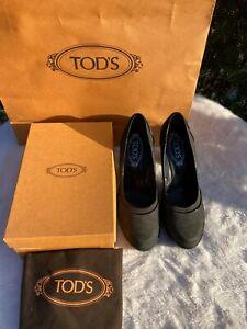 TOD's Pumps NP 799,-€ Gr.40 grau NEU aus Rom LUXUS Leder Limited Edition BLOGGER