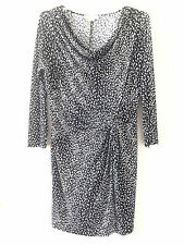 Michael Kors Dress Women's Black White Leopard Twist Knot Cowl Size 1X