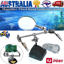 Magnifier Solder Third Hand Soldering Iron Stand Holder Station Helping Tool AU