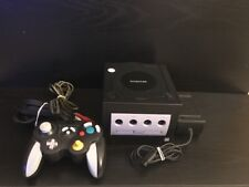 Nintendo GameCube Black Console Model C/L-DOL-USA With After Market Controller