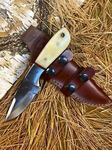 LOUIS MARTIN CUSTOM HANDMADE FIXED BLADE D2 TOOL STEEL ART HUNTER SKINNER KNIFE