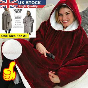 Blanket Huggle Sweatshirt Hoodie Ultra Plush Blanket Camping Warm Coat Wear 2020