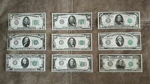 High quality COPIES with W/M United States. Federal Reserve 1928 FREE SHIPPING !
