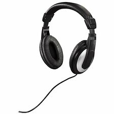 Ex-Pro Black/Silver Over-Ear TV Stereo Headphones Earphones 6m Long Cable