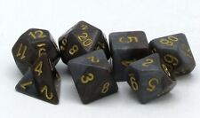 Halfsies Dice GKG569 Dwarf Dice Beard Brown & Mountain Stone (Polyhedral Set)