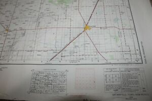 """BROWNFIELD TX / NM Topo map provisional 1954. Dowsed IN PENCIL LIGHTLY 32""""X22"""""""