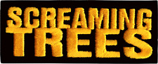 9312 Screaming Trees Black Yellow Logo Rock Grunge Music Band Sew Iron on Patch