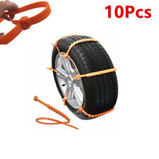 10Pcs Car Truck Snow Ics Wheel Tyre Tire Antiskid Chains Slip Thickened Tendon