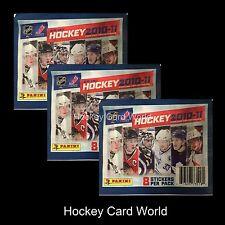 (HCW) 2010-11 Panini NHL Hockey Album Sticker Pack x3 (3 Pack Lot - 24 Stickers)