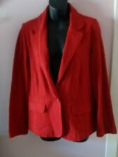 UK 14 Authentic BHS 100% Cotton Red Ladies Coat Lightweight Size 14