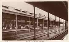 LNE Railway Station Interior Shop Doncaster RP old pc used 1938 WHS Kingsway