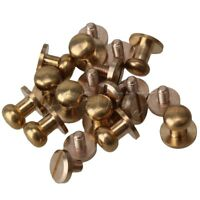 10pcs Solid Brass Chicago Screws Leather Craft Round Head Nail Rivets 9x8x9mm