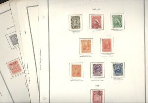 NEWFOUNDLAND, Assortment of Stamps hinged on Harris pages