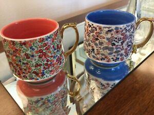 LIBERTY OF LONDON for Anthropologie Coffee Mugs /Tea Cups NWT